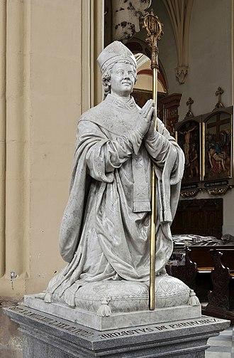 Arnošt of Pardubice - Ernst of Pardubitz - gravestone in Assumption Church in Kłodzko, Poland