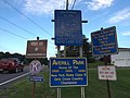 2015-08-20 19 36 35 Welcome signs along eastbound New York State Route 43 (West Sand Lake Road) entering Sand Lake, New York from North Greenbush, New York.jpg