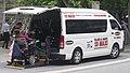 2016 Toyota HiAce (KDH223R) Commuter Super LWB van, Black & White 13 MAXI (2018-11-22) 02.jpg
