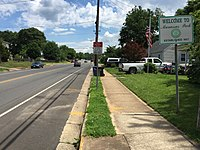 2017-05-31 13 57 39 View east at the west end of Virginia State Route 213 (Manassas Drive) between Appomattox Avenue and Mace Street in Manassas Park, Virginia.jpg