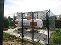 2018-03-13 Galp gas cylinder, Rua Cesário Verde, Pátio.JPG