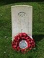 2018-06-13 CWGC gravestone, Unknown Merchant seaman, Parish church of Saint John the Baptist's head, Trimingham.JPG