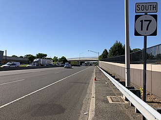 Maywood, New Jersey - Route 17 southbound in Maywood
