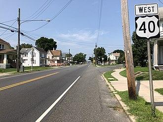 Elmer, New Jersey - U.S. Route 40 westbound in Elmer