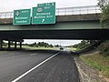 2018-09-10 11 11 04 View north along New Jersey State Route 55 (Cape May Expressway) at Exit 50B (U.S. Route 322 WEST, Richwood, Mullica Hill) in Harrison Township, Gloucester County, New Jersey.jpg