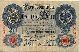 German gold mark German currency from 1873–1914