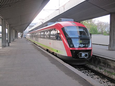 A Siemens Desiro train of the Bulgarian State Railways at the Central Railway Station 21.04.10 Sofia 31005 (6168607167).jpg