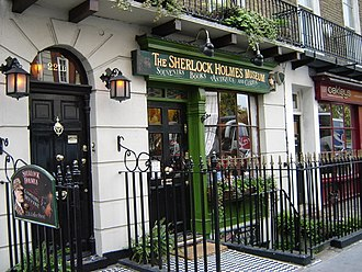 Sherlock Holmes Museum - The exterior of the Sherlock Holmes Museum and doorway marked as 221B