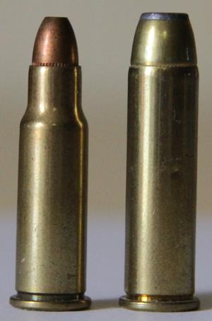 .256 Winchester Magnum - Image: 256magnumand 357magnum