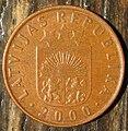 2 santimi 2000, Latvia (obverse).jpg