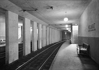 Volvat (station) Former Oslo metro station