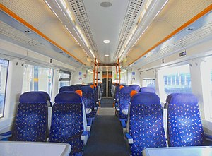 British Rail Class 375 - The interior of Standard Class prior to refurbishment