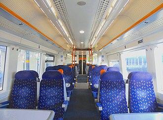 British Rail Class 375 - The interior of Standard Class prior to refurbishment