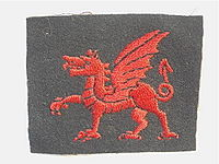 38th Welsh Division Patch