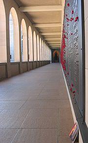 The list of fallen servicemen during WWII held at the Australian War Memorial