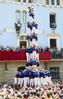 Human Tower Team from Vila de Gràcia Barcelona