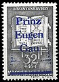 500th birthday of Mathias Hunyadi Corvinus, 32f, 1940, with overprint Prinz-Eugen-Gau.jpg
