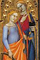 51 Giovanni da Milano. St. Lucy and St. Ecatherina of Alexandria. Ognissanti Polyptych, detail, Uffizi.jpg