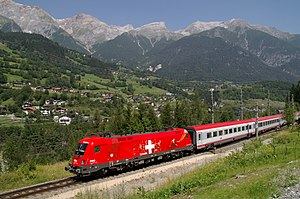 Arlberg railway - An ÖBB train on the Arlberg Railway in 2007