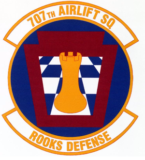 707th Airlift Squadron - Image: 707 Airlift Sq emblem