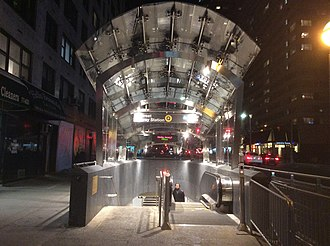 72nd Street (Second Avenue Subway) - 70th Street exit at night