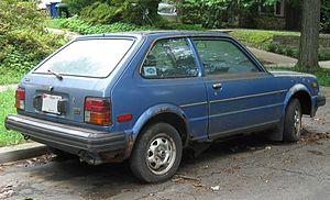 Honda Civic (second generation) - Image: 80 81 Honda Civic DX hatch rear