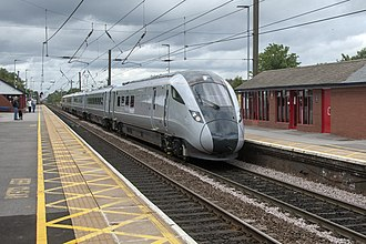 Rail transport - A British Rail Class 802 between London and Edinburgh in the United Kingdom