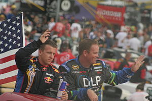 A. J. Allmendinger - Allmendinger (left) and Tony Raines