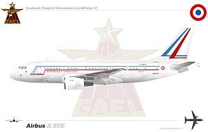 Escadron de transport, d'entrainement et de calibration - Image: A319CJ