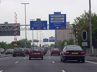 A7 motorway (Netherlands) - Westbound N7 near Groningen.