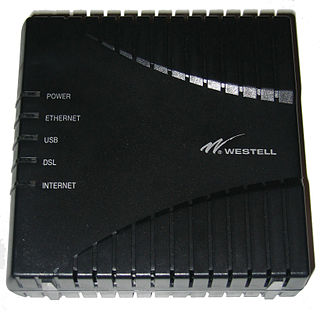 DSL modem Type of computer network modem; network equipment