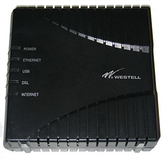 DSL modem - Westell Model 6100 AXXDSL DSL router