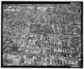 AERIAL VIEW, LOOKING NORTH. - Eastern State Penitentiary, 2125 Fairmount Avenue, Philadelphia, Philadelphia County, PA HABS PA,51-PHILA,354-166.tif