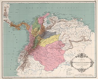 Departments of Colombia in 1890 Mapa de Colombia (1890).jpg