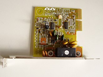 Audio/modem riser - A modem with AMR interface