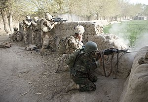 1st Battalion, The Rifles - C Company 1 Rifles and the Afghan National Army engaging the Taliban in Helmand Province, Afghanistan in 2009.