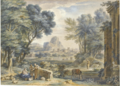 ARCADIAN LANDSCAPE WITH THE REST ON THE FLGHT INTO EGYPT.PNG