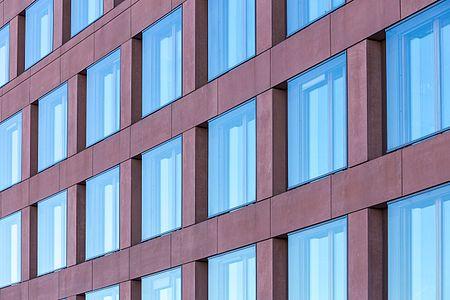 Facade of ARD-Hauptstadtstudio in Berlin-Mitte.