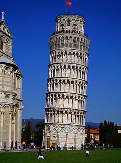 The tower of Pisa, symbol of the city