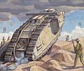 A Mark V Tank Going Into Action Art.IWMART2267.jpg