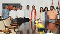 A delegation of North East Welfare Society led by Shri J. Maivio called the Minister of State for Culture (Independent Charge), Tourism (Independent Charge) and Civil Aviation, Dr. Mahesh Sharma, in New Delhi.jpg
