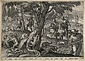 A group of huntsmen killing polecats by spearing them with l Wellcome V0021895.jpg
