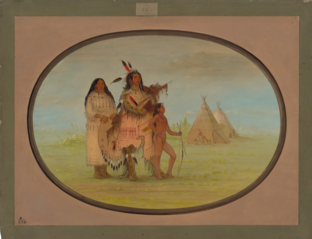 A K'nisteneux Warrior and Family