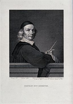 A middle-aged mathematician standing before a blackboard, on Wellcome V0025321