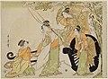 A parody with four beauties (Kitagawa Utamaro).jpg