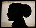 A silhouette of a human head, seen in profile. Watercolour, Wellcome V0009713.jpg