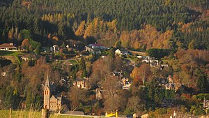 Strathpeffer - A view across Strathpeffer (facing north)