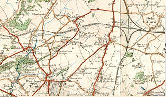 Charlton, Bristol - The area round Filton near Bristol in England as about 1935