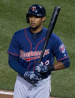 Aaron Hicks - Hicks during his tenure with the Minnesota Twins in 2013