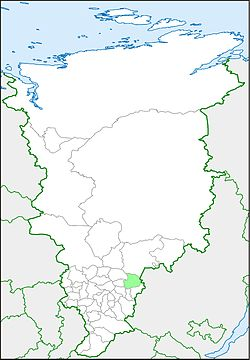 Aban raion on a map of Krasnoyarsk krai.jpg